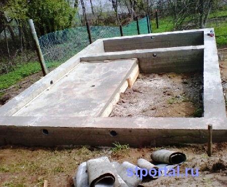 Баня своими руками 6х4 фундамент